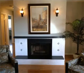 Simple Fireplace Refacing – A quick and budget friendly fireplace upgrade.